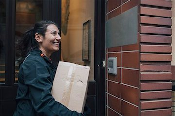Delivery at door with intercom